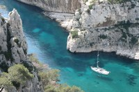 calanque or fjord near cassis France walks